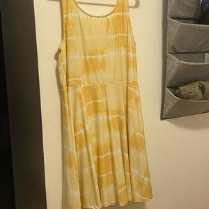 Ardene yellow tie dye dress